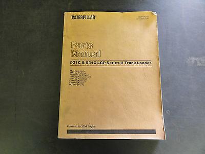Caterpillar 931c 931c Lgp Series Ii Track Loader Parts Manual
