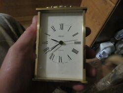 Vintage Seiko Desk Mantle Clock Brass Tested Working Nice AQP101G