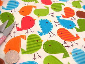 Bird printed 100 cotton fabric baby kids clothes cotton for Cotton fabric for children s clothes