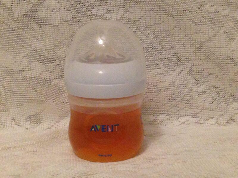 Reborn Fake Faux Apple Juice 4oz Bottle Avent Reborn Doll Only
