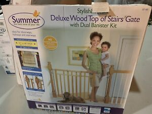 Deluxe Wood Top of stairs gate
