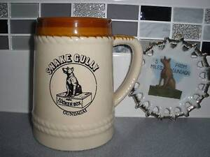VINTAGE *Dog on the Tucker Box* GUNDAGAI Been Stein & Wall Plate Albany Creek Brisbane North East Preview