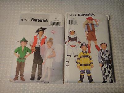 Butterick B4632 3244 Patterns Peter Pan Capt Hook Tinker Bell Halloween Costumes