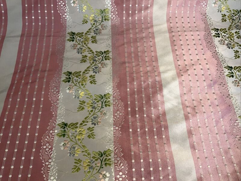 SCALAMANDRE SILK LISERE ROMANO IN PINK REMNANT, 1 1/2 Yd