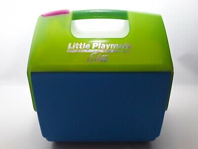 Little Playmate Elite Igloo Cooler Lime Green and Blue Lunchbox Easy Open Button