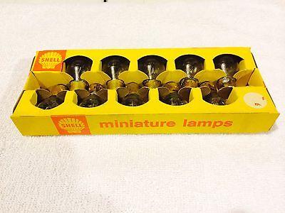 Vintage Shell Gasoline service station bulbs - Lamps GE 1154 bulbs  6 volt