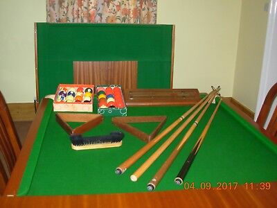Slate Bed Snooker Dining Table  excellent condition 7ft  4ft. Plus equipment