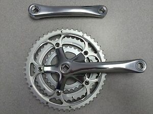 New-Alloy-Bike-Crankset-w-Chainring-Triple-52-42-30T-175mm-Silver
