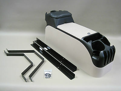 P71 Tan Center Console Kit Crown Victoria With Black Tip Up Armrest Pad, used for sale  Shipping to Canada
