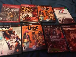 Some old ps2 games and one PS3 game