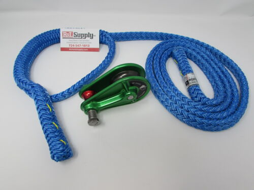 "1/2"" ISC RP048 BLOCK & 2-6FT LOOPIE SLING RIGGING COMBO KIT - ARBORIST"