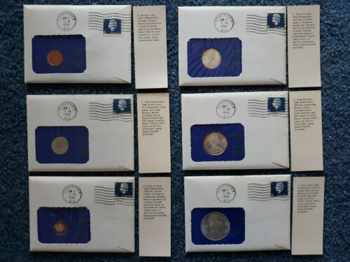 CANADA 1966 COINS IN 99 COMPANY COVERS   TOTAL SIX COVERS