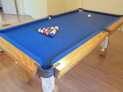 Pool Table - Royal blue felt top Northbridge Willoughby Area Preview
