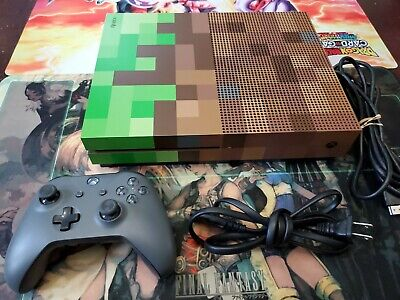 Microsoft Xbox One S Minecraft Limited Edition 1TB Green & Brown Console