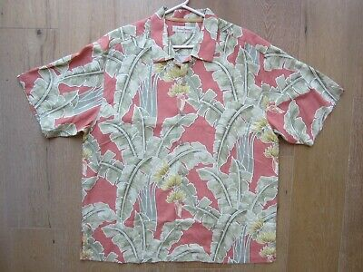 Vintage TOMMY BAHAMA Hawaiian Shirt TROPICAL ISLAND PARADISE Palm Bamboo XL Rare Tropical Island Bamboo