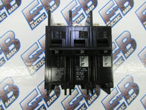 Siemens BQ3B020, 3 POLE 20 AMP 240 VOLT BOLT ON Circuit Breaker- WARRANTY