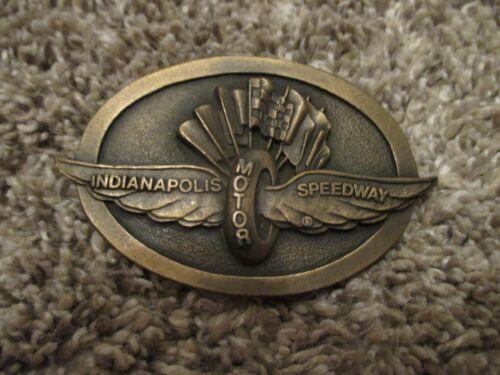Indianapolis Motor Speedway Brass Belt Buckle