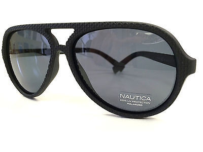 Polarized Sunglasses Nautica Sun N3572SP Aviator Grey Lens Black Frame 58 Eye