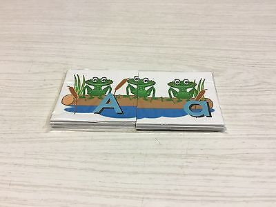 FROGS ON A LOG - Uppercase  Lowercase Match -  Teaching Supplies READING