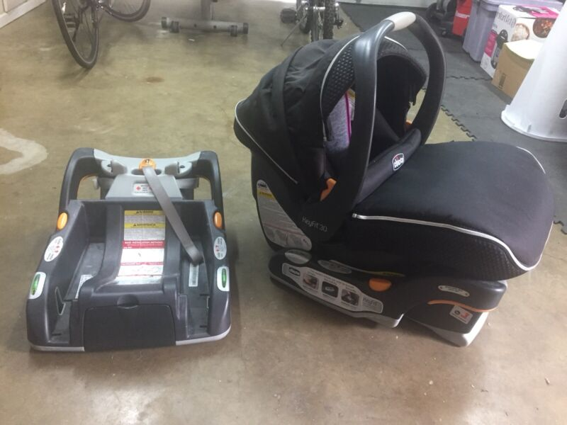 Used chicco keyfit 30 infant car seat with extra base