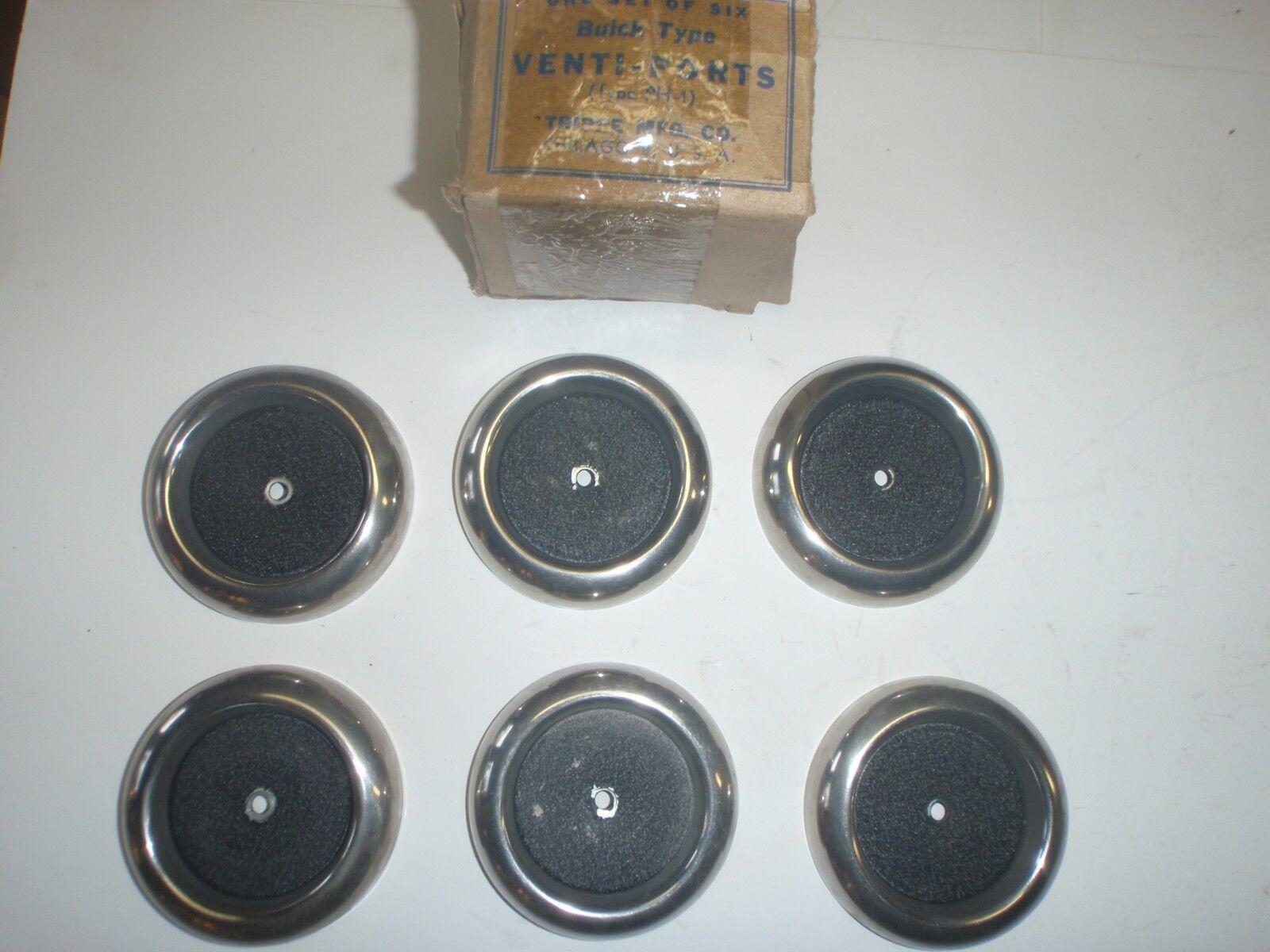 Set of 6 Front Fender Round Portholes 1949 Buick Type HOT RAT ROD Venti-Ports