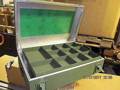 "26""X17""X8"" Military Publication Aluminum Portable Chest Tool Box Acc.  Stowage [E1S2]"