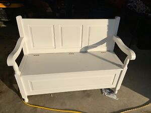 Bench with storage space inside