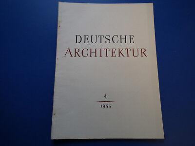 DDR Zeitschrift- Deutsche Architektur -4/1955-Leipzig-Dresden Frauenkirche-Wohnu