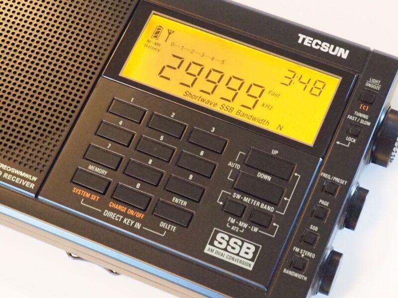 Tecsun pl-600  Shortwave portable radio  with SSB  black