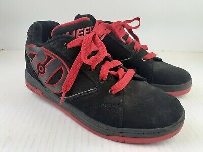 Heelys Sneakers US Size 7 Roller Shoes Propel 2.0 Black Red 770359