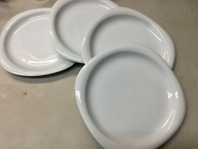 4 Dinner Plates Rosenthal Suomi White Studio Line Germany 17000 Square Round (4 Solid Rim Dinner Plates)