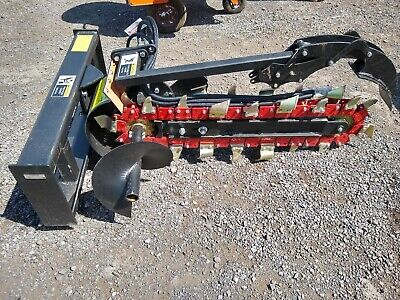 New Great Bear Suhie Skidsteer Skid Steer Hydraulic Trencher Attachment. 4 X 8