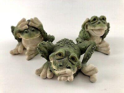 Adorable Set of 3 Frogs See, Speak, Hear No Evil