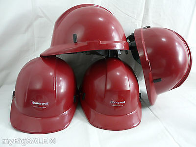 Ems Emt Helmet Morning Pride Fire Red Hard Hat Honeywell First Responder Ratchet