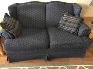 Blue Couch/ Love Seat