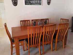 Solid Timber Dining table with matching buffet. Regents Park Auburn Area Preview
