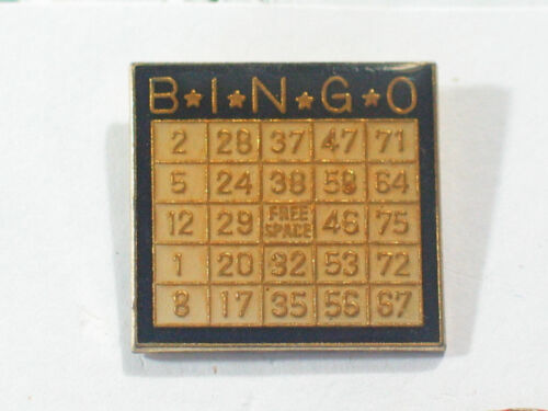 Vintage Lucky Bingo Card Pin