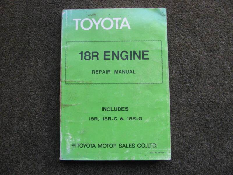 toyota 18r engine repair manual other parts accessories rh gumtree com au Toyota Engine Toyota GR Engine