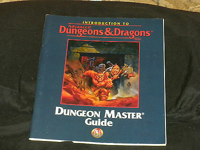 Advanced Dungeons & Dragons AD & D Introduction To Dungeon Masters Guide RPG