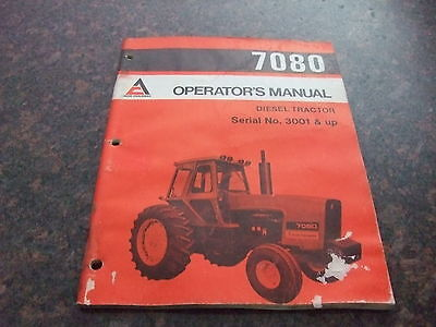 Allis Chalmers 7080 Diesel Tractor Operation Maintenance Book Manual