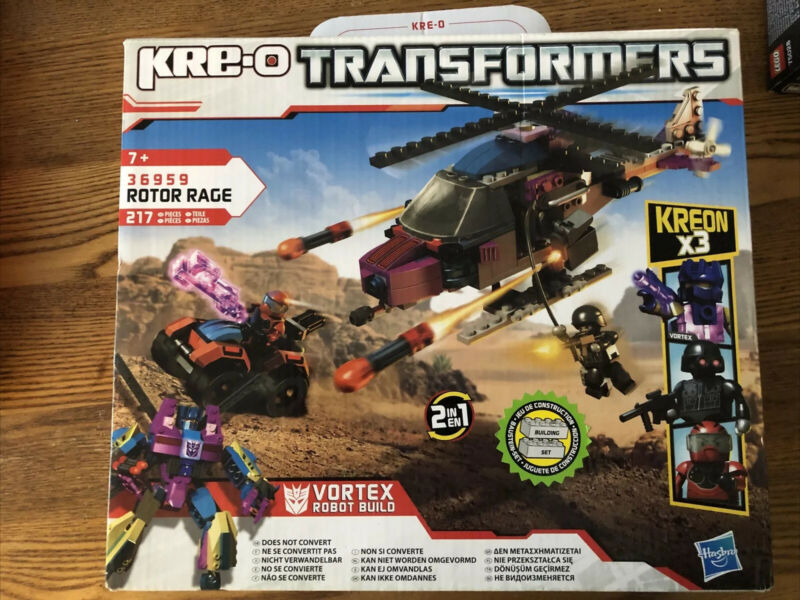 Kre-O+Transformers+Rotor+Rage+Vortex+36959+Set+Brand+New+%26+Sealed+217+Pieces
