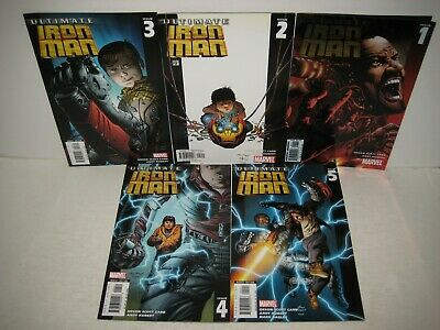 Marvel Ultimate Iron Man #1 2 3 4 5 Complete Series Comic Books](Ultimate Iron Man)