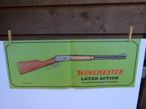 "WINCHESTER MODEL 94 ADVERTISING POSTER 34"" X 13"" GREATEST DEER GUN"