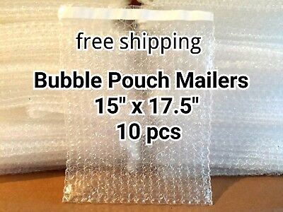 10x 15 X 17.5 Bubble Out Bags Pouches Self Seal Mailers Bags Clear