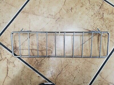 Gondola Shelf Wire Fence 3 H X 11 L - Lozier Madix - Chrome Finish - 25 Pieces