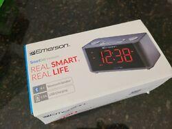 Emerson ER100201 SmartSet Alarm Clock Radio with Bluetooth Speaker (8594)