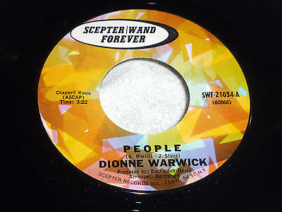 Dionne Warwick: People / The Last One to be Loved  [Unplayed (Dionne Warwick The Last One To Be Loved)