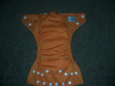 Fuzzi bunz pocket cloth diaper orange size small  no doubler