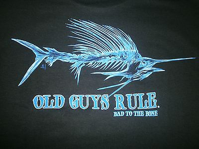 Old Guys Rule   Bad Sailfish   W  Pocket Rod Reel Fishing Beach S S Size Xl