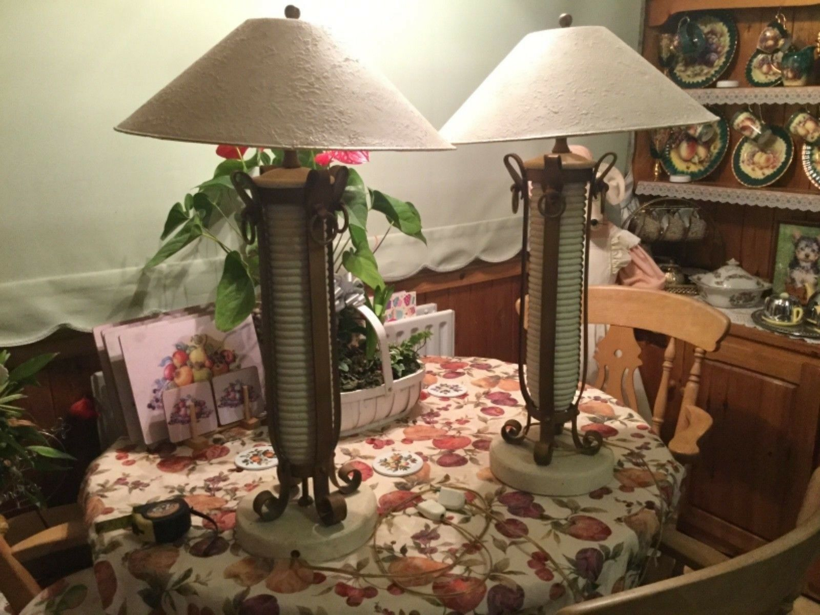 Antique  oriental table lamps very rare
